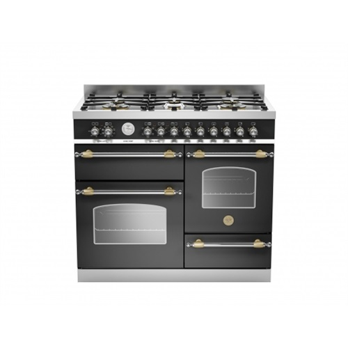 Heritage 100cm 6 burner electric triple oven black