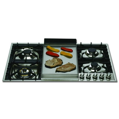 ILVE XLPT90FD - 90CM FLUSH FITTED 4 BURNER FRY TOP