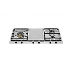 Bertazzoni Professional Series 90 3-Segment 3-Burner Gas/Griddle hob