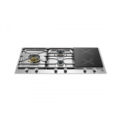 Bertazzoni Professional Series 90 3-Segment 3-Burner Gas/Induction hob