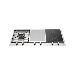 Bertazzoni Professional Series 90 3-segment 1-burner gas/griddle hob/induction hob
