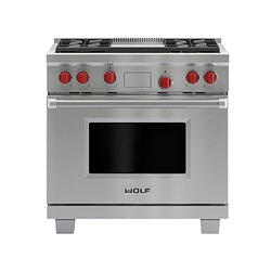 914mm Dual Fuel Range with Griddle ICBDF364G